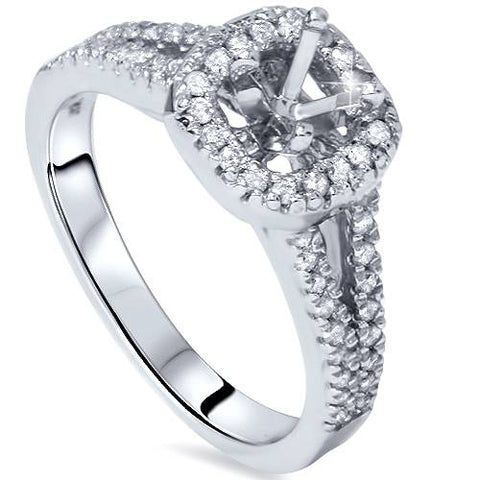 1/3ct Diamond Halo Ring 14K White Gold