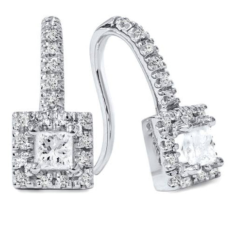 5/8ct Diamond Studs 14K White Gold