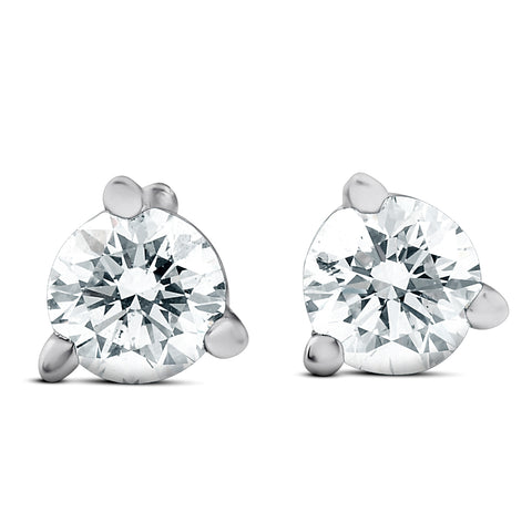 1/4ct G/SI Diamond Martini Studs With Screw Backs 14K White Gold Lab Created
