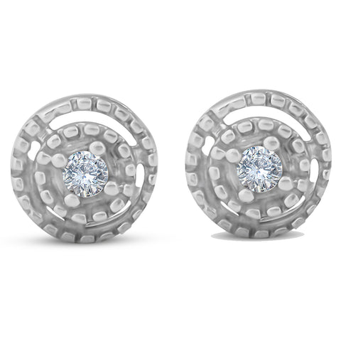 Diamond Studs 10K White Gold