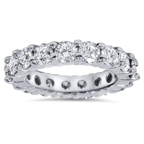 4Ct Diamond Platinum Eternity Ring Womens Wedding Stackable Band
