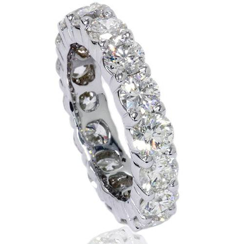 Platinum 5 Ct Diamond Eternity Ring Womens Wedding Anniversary Engagement Band