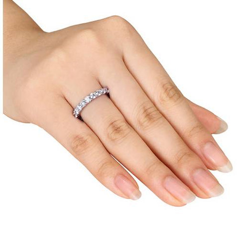 F/VS 950 Platinum 2ct Diamond Eternity Womens Wedding Stackable Ring