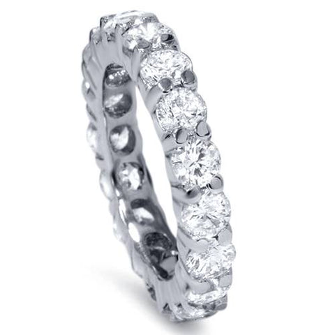 3Ct Diamond Eternity Ring 14k White Gold Womens Wedding Band