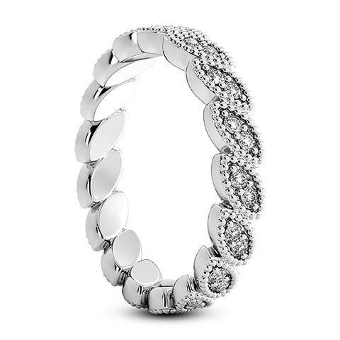 Platinum 1/3 Ct Diamond Stackable Eternity Ring Womens Wedding Band Vintage