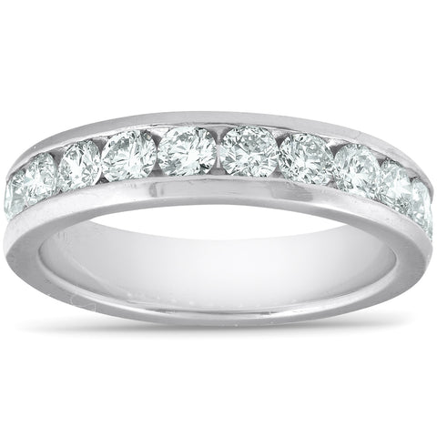 G/VS 1ct Lab Grown Diamond Wedding Ring Platinum Channel Set Eco Friendly