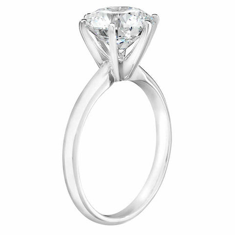 3.04 Ct Diamond E/SI Solitaire Engagement Ring IGI Certified Lab Grown SZ 7
