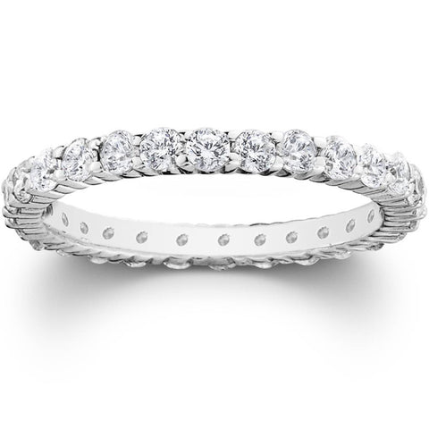1ct Prong Diamond Eternity Wedding Ring 950 Platinum