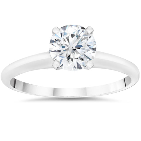 1/4ct Lab Created Diamond Solitaire Engagement Ring 14K White Gold