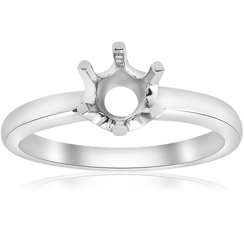 Solitaire Solstice Style Engagement Ring Setting 14K White Gold