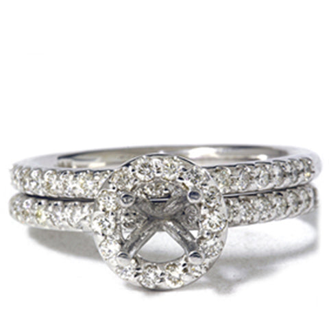 1/2ct Diamond Mount Engagement Matching Ring Setting