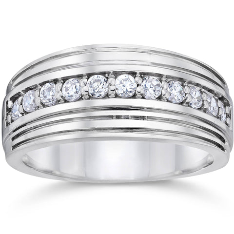 5/8 Ct Diamond Platinum Mens Wedding Ring