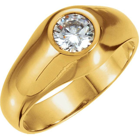 1.50Ct Men's Solitaire Round Diamond Brilliant Wedding Ring 14K Yellow Gold