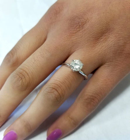 size rings images diamond best ring pinterest engagements carat comparison on
