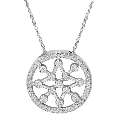 1/3ct Circle Star flake Dreamweaver Diamond Pendant 14K