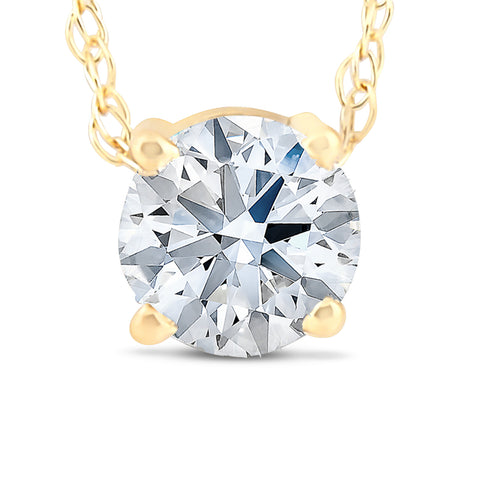 .38 Ct Floating Diamond Solitaire Pendant in 14k Yellow Gold