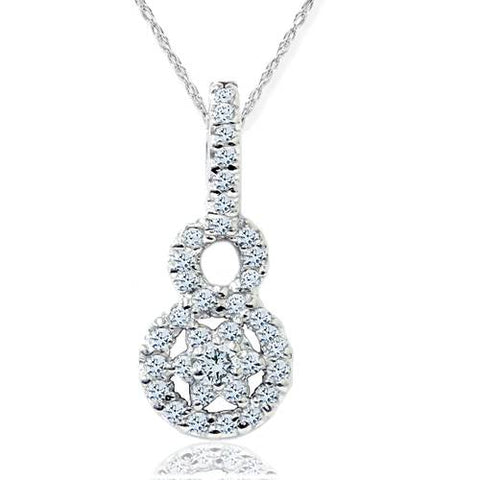 1/2ct SI Diamond Pendant 14K White Gold