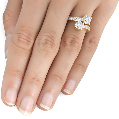 1 1/2 cttw Forever Us 2-Stone Diamond Engagement Forever Us Ring 14k Yellow Gold