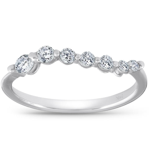 1/2ct Diamond Journey Ring 14K White Gold