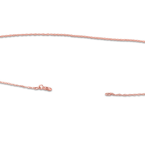 "Solid 1.1MM 14k Rose Gold 18"" Durable Chain With Spring Ring"