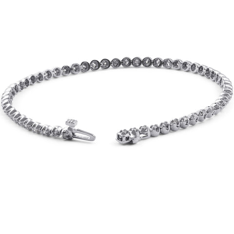 "VS/G 1ct Diamond Classic Tennis Bracelet U Prong White Gold 7"" Lab Grown"