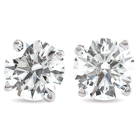 I/VS 1.50 Ct Diamond Screw Back Studs 14k White Gold Lab Grown Eco Friendly