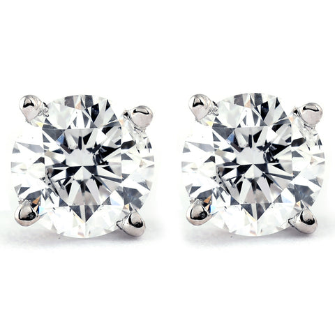 VVS1 Platinum 1/2ct Diamond Studs