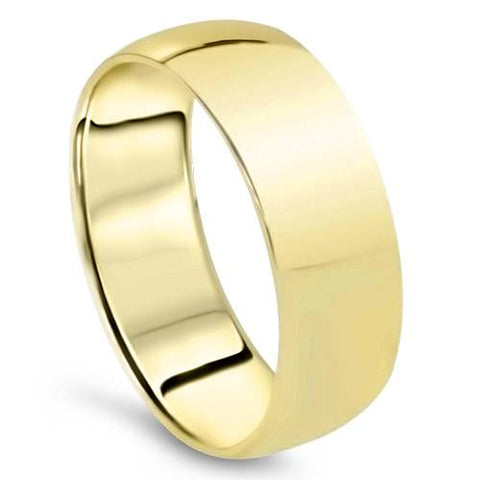14K Yellow Gold 7mm Comfort Fit Wedding Band Ring Mens