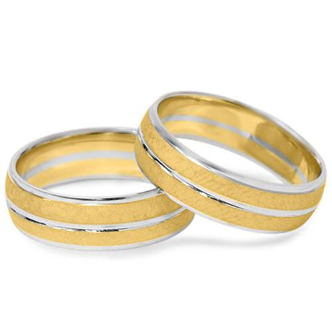 Hammered Ring Set 14K Gold