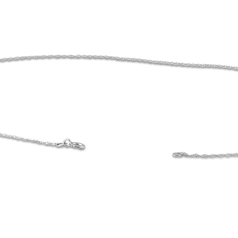 "Solid 10k White Gold 18"" Dainty Chain With Spring Ring"