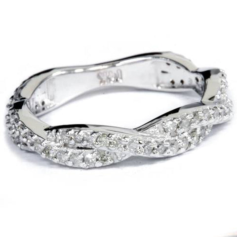 .40Ct Natural Diamond Infinity Ring 14K White Gold  5
