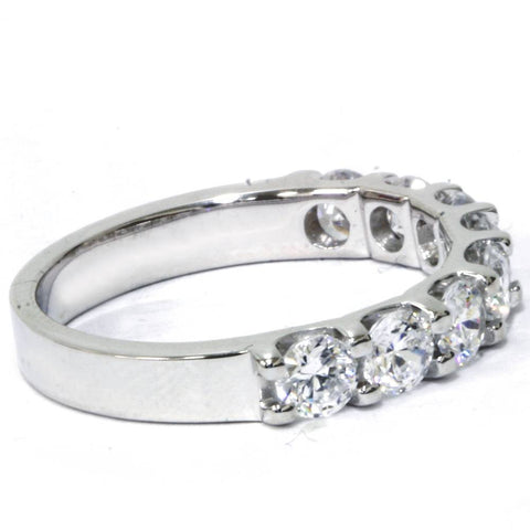 U Prong Diamond 1 12 Carat Wedding Ring 14K White Gold Womens