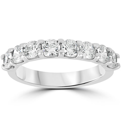 2ct Diamond U Prong Wedding Ring 14k White Gold Anniversary Band