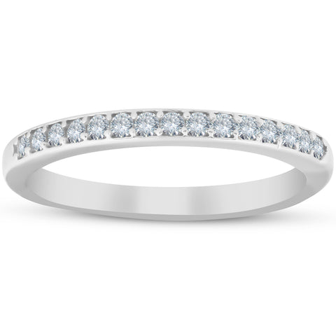 1/4ct Diamond Wedding Ring 10k White Gold