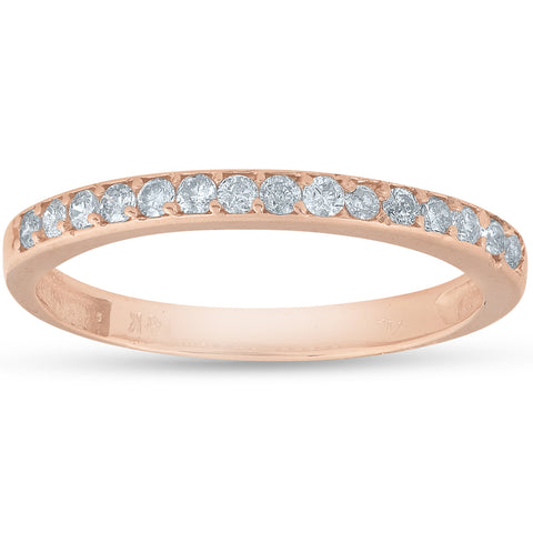 1/4ct Diamond Ring in 14k White, Yellow, or Rose Gold