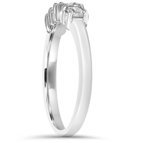 1/2ct Princess Cut Diamond 14K White Gold Wedding Ring