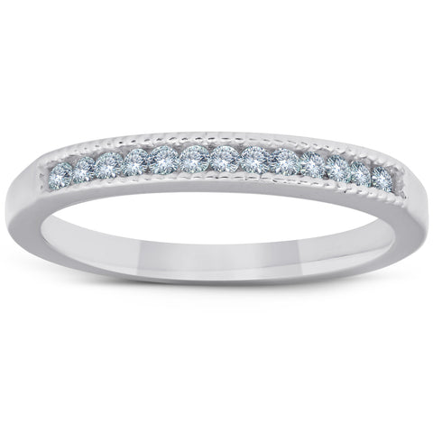 1/4ct Diamond Channel Set Ring 14K White Gold