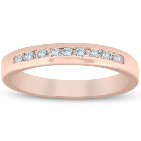 1/4ct Channel Set Diamond Wedding Ring 14K Rose Gold