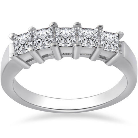 1ct Five Stone Diamond Ring 950 Platinum