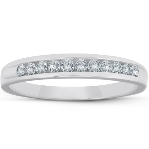 1/4ct Diamond Platinum Wedding Anniversary Guard Womens Ring