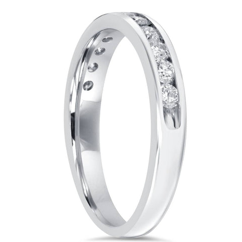 1/2Ct Diamond Wedding Ring 10K White Gold