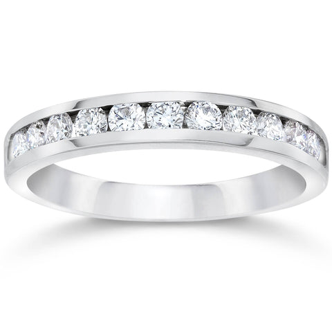 950 Platinum Channel Set Diamond 1/2ct Wedding Ring