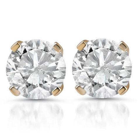 1 1/4ct Diamond Studs 14K Yellow Gold