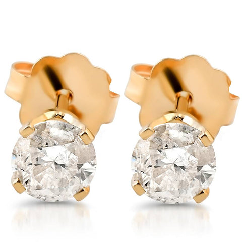 1/5ct Diamond Stud Earrings 14K Yellow Gold