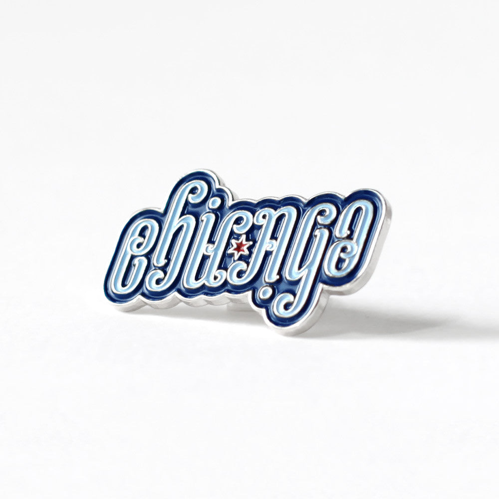 Chicago Ambigram Pin