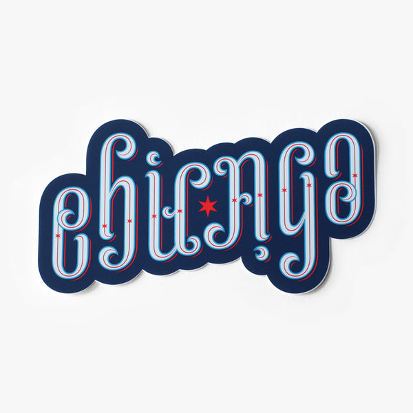 Chicago Ambigram Sticker