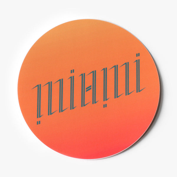 Miami Ambigram Sticker