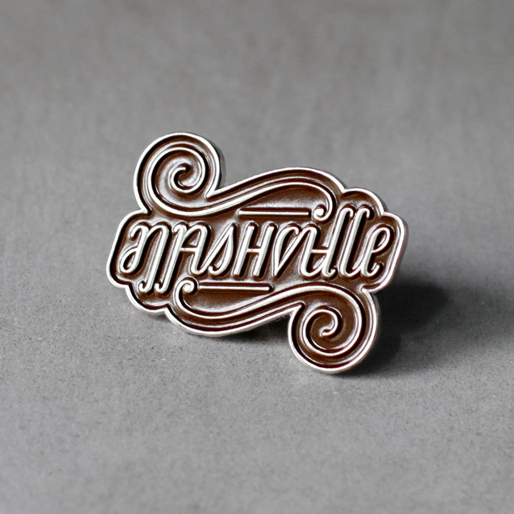 Nashville Ambigram Pin