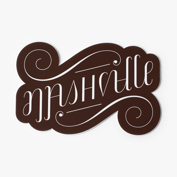 Nashville Ambigram Sticker