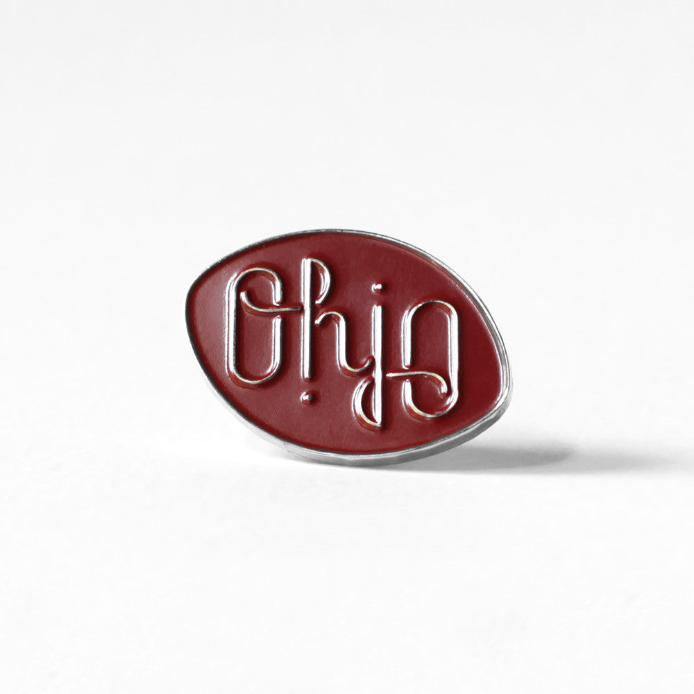 Ohio Ambigram Pin